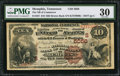 National Bank Notes:Tennessee, Memphis, TN - $10 1882 Brown Back Fr. 487 The NB of Commerce Ch. #(S)5056. ...