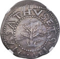 Colonials, 1652 SHILNG Oak Tree Shilling, IN at Bottom, XF45 NGC. CAC. Noe-13.6, W-520, R.6....