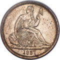 Proof Seated Dimes, 1837 10C No Stars, Large Date, F-101, R.7, PR62 PCGS....