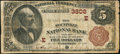National Bank Notes:Pennsylvania, Mountville, PA - $5 1882 Brown Back Fr. 470 The Mountville NB Ch. #(E)3808. ...