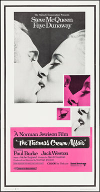"The Thomas Crown Affair (United Artists, 1968). Three Sheet (41"" X 79""). Crime"