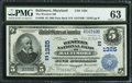 National Bank Notes:Maryland, Baltimore, MD - $5 1902 Date Back Fr. 590 The Western NB Ch. #(E)1325. ...