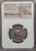 Ancients:Roman Provincial , Ancients: SYRIA. Antioch. Philip II (AD 247-249). BI tetradrachm.NGC Choice VF....