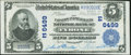 National Bank Notes:Pennsylvania, Tyrone, PA - $5 1902 Plain Back Fr. 598 The Farmers & MerchantsNB Ch. # (E)6499. ...
