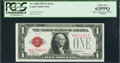 Error Notes:Skewed Reverse Printing, Fr. 1500 $1 1928 Legal Tender Note. PCGS Choice New 63PPQ.. ...