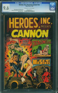 Heroes, Inc. Presents Cannon nn (Wally Wood, 1969) CGC NM+ 9.6 Off-white to white pages