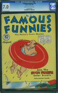 Golden Age (1938-1955):Humor, Famous Funnies #73 (Eastern Color, 1940) CGC FN/VF 7.0 Cream to off-white pages.