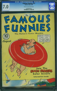 Famous Funnies #73 (Eastern Color, 1940) CGC FN/VF 7.0 Cream to off-white pages
