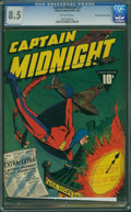 Golden Age (1938-1955):Superhero, Captain Midnight #7 - Crowley Pedigree Copy (Fawcett Publications, 1943) CGC VF+ 8.5 Off-white pages.