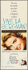 """Movie Posters:Foreign, Paris Does Strange Things (Warner Brothers, 1956). Insert (14"""" X 36""""). Foreign.. ..."""
