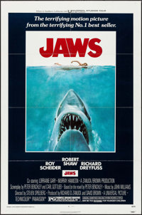 "Jaws (Universal, 1975). One Sheet (27"" X 41""). Horror"