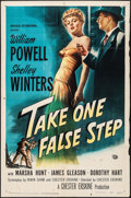 "Movie Posters:Mystery, Take One False Step (Universal International, 1949). One Sheet (27""X 41""). Mystery.. ..."