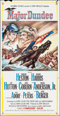 """Movie Posters:Western, Major Dundee (Columbia, 1965). Three Sheet (41"""" X 78.5""""). Western.. ..."""