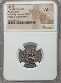 Ancients:Celtic, Ancients: DANUBE REGION. Imitating of Alexander III the Great. Ca.3rd century BC. AR drachm. NGC AU....