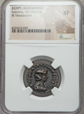 Ancients:Roman Provincial , Ancients: EGYPT. Alexandria. Salonina (AD 254-268). BI tetradrachm.NGC XF....