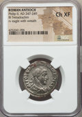 Ancients:Roman Provincial , Ancients: SYRIA. Antioch. Philip II (AD 247-249). BI tetradrachm.NGC Choice XF....