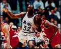 Basketball Collectibles:Photos, Shaquille O'Neal Signed Oversized Photograph. ...