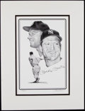 Baseball Collectibles:Others, Mickey Mantle Signed Print....