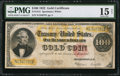 Large Size:Gold Certificates, Fr. 1215 $100 1922 Gold Certificate PMG Choice Fine 15 Net... ...