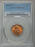 Lincoln Cents: , 1948-S 1C MS67 Red PCGS. PCGS Population: (250/0). NGC Census: (551/0). Mintage 81,735,000. ...