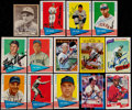 Autographs:Sports Cards, Signed 1940's - 1980's Baseball Stars and HoFers Card Collection (14). ...