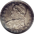 Bust Half Dollars: , 1813 50C 50C Over UNI AU50 NGC. O-101a, High R.3. This lovely andcollectible coin mixes greenish-brown toning with hints o...