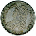 "Bust Half Dollars: , 1817 50C 181.7 XF40 NGC. O-103, R.2. Overton's ""punctuated date""variety, which has a tiny die lump (as made) between the f..."