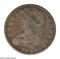 Bust Half Dollars: , 1818 50C VG10 NGC. O-115, High R.4. An evenly worn example of thisscarcer variety with medium gray-golden toning. The diag...