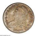 Bust Half Dollars: , 1820 50C Curl Base 2, Small Date MS62 NGC. O-103, R.1. Uncommonlylustrous for the grade with sharp striking details throug...