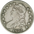 Bust Half Dollars: , 1822 50C VF30 NGC. O-108a, R.3. Star seven of this obverse gentlytouches the front of the liberty cap, as opposed to the O...