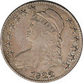 Bust Half Dollars: , 1822 50C VF35 NGC. O-112, R.4. Star one of this obverse nearlytouches the drapery. On the reverse, the fourth crossbar fro...
