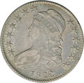 Bust Half Dollars: , 1822 50C VF35 NGC. O-113, R.3. Stars one and eight are close to thedrapery and cap, respectively, on this obverse. On the ...