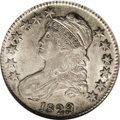 Bust Half Dollars: , 1823 50C Patched 3 AU50 NGC. O-101a, R.1. This coin has somewhatlustrous, uncleaned surfaces, as its small, dark areas of ...