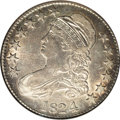 Bust Half Dollars: , 1824/4 50C AU50 NGC. O-110, R.2. The variety is confirmed by therecut 4 in the date, the AME of AMERICA joined at the base...