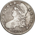 Bust Half Dollars: , 1827/6 50C VF25 NGC. O-101, R.2. Strongly struck with typical wearon both sides, for the grade. Variegated gray and reddis...