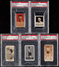 Boxing Cards:General, 1921-29 Boxing Jack Dempsey PSA Graded Collection (5)....