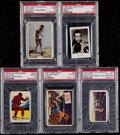 Boxing Cards:General, 1939-57 Boxing Joe Louis PSA Graded Collection (5)....