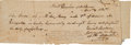 Autographs:Military Figures, [Siege of Bexar]. Edward Burleson Document Signed....
