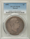 Coins of Hawaii , 1883 $1 Hawaii Dollar VG10 PCGS. PCGS Population: (3/757). NGCCensus: (0/428). Mintage 46,348. ...