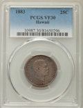 Coins of Hawaii , 1883 25C Hawaii Quarter VF30 PCGS. PCGS Population: (31/1937). NGCCensus: (17/1301). Mintage 242,600. ...