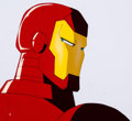 Animation Art:Production Cel, Iron Man Close-Up Production Cel and Animation Drawing(Marvel Films, 1995).... (Total: 2 )