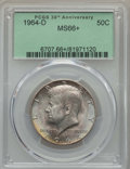 Kennedy Half Dollars, 1964-D 50C MS66+ PCGS. PCGS Population: (721/52 and 35/2+). NGCCensus: (426/14 and 1/0+). Mintage 156,205,440. ...