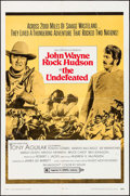 "Movie Posters:Western, The Undefeated (20th Century Fox, 1969). One Sheet (27"" X 41"") Style B. Western.. ..."