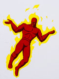 Animation Art:Production Cel, The Fantastic Four The Human Torch Production Cel &Animation Drawing (Marvel Films, 1995).... (Total: 2 )
