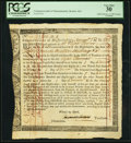 Colonial Notes:Massachusetts, Massachusetts Interest Due Treasury Certificate £50.13s.4d November1, 1785 Anderson MA-34 PCGS Very Fine 30.. ...