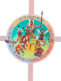 """R. Tom Gilleon """"Mystery Lodge"""" Indian Display Painting and Poster Group (1994).... (Total: 117 Items)"""