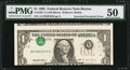 Error Notes:Inverted Third Printings, Fr. 1921-A $1 1995 Federal Reserve Note. PMG About Uncirculated50.. ...
