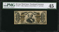 Fractional Currency:Third Issue, Fr. 1337 50¢ Third Issue Spinner PMG Choice Extremely Fine 45.. ...