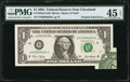 Error Notes:Foldovers, Fr. 1926-D $1 2001 Federal Reserve Note. PMG Choice Extremely Fine45 EPQ.. ...