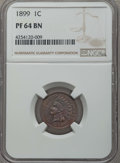 Proof Indian Cents: , 1899 1C PR64 Brown NGC. NGC Census: (9/21). PCGS Population: (16/24). CDN: $225 Whsle. Bid for problem-free NGC/PCGS PR64. ...